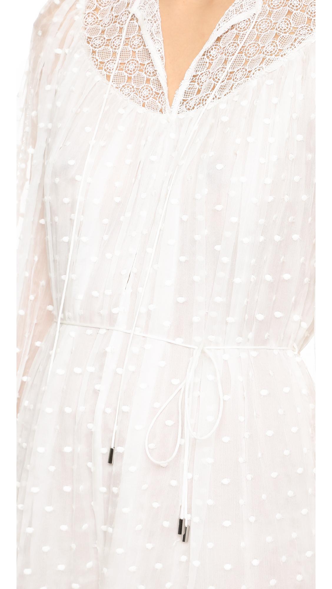 fc9c575cd711 Lyst - Zimmermann Belle Web Dot Romper in White