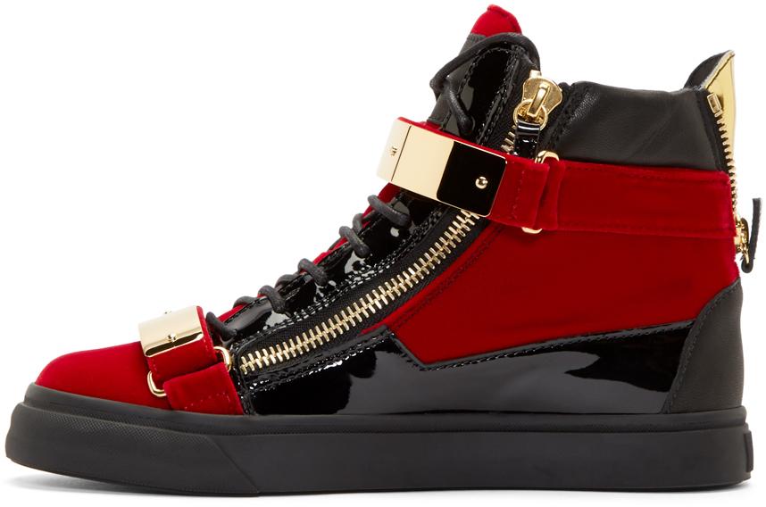 Giuseppe Zanotti Velvet May London High-Top Sneakers asp6S