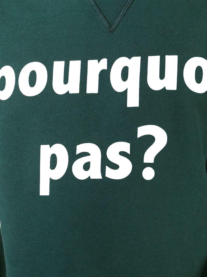 Mauro grifoni pourquoi pas print sweatshirt in blue for for Pourquoi pas