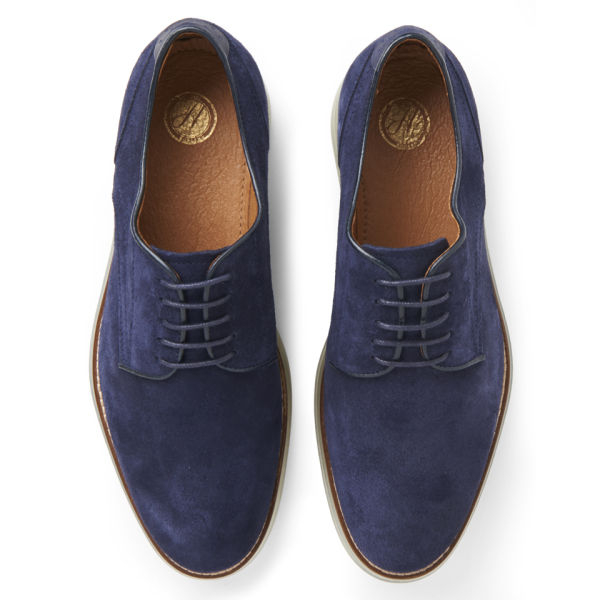 H by hudson Mens Boson Suede Shoes in Blue for Men | Lyst