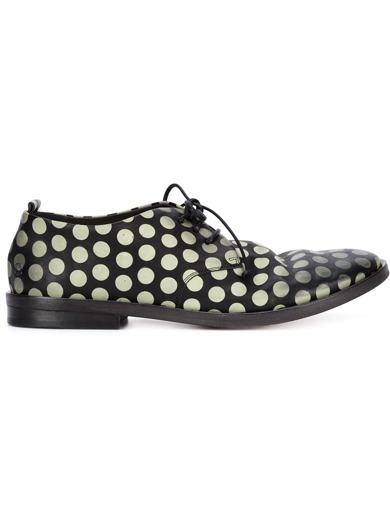 polka dot lace-up shoes - Black Mars Ueqmh8Z