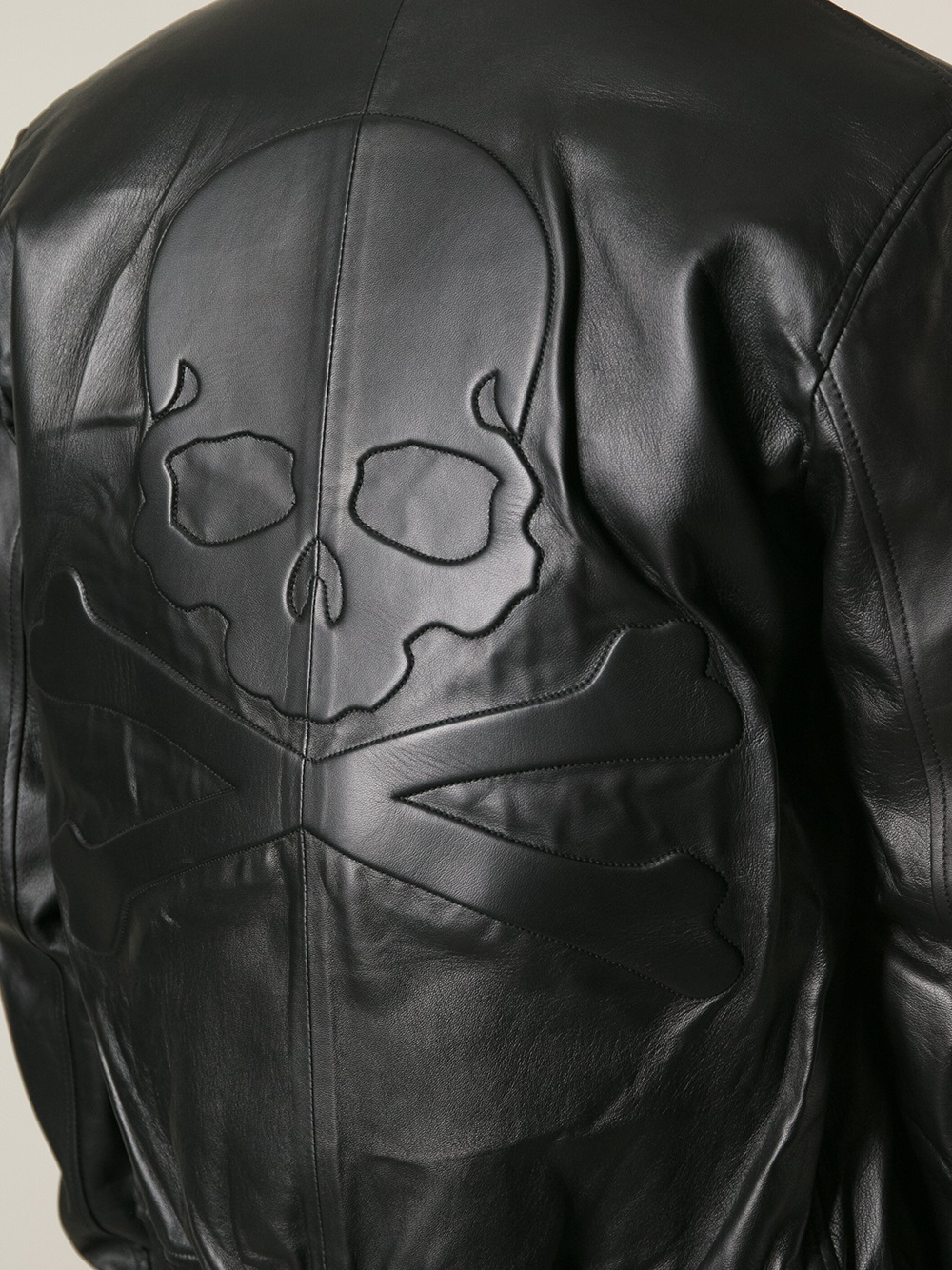lyst philipp plein skull detail jacket in black for men