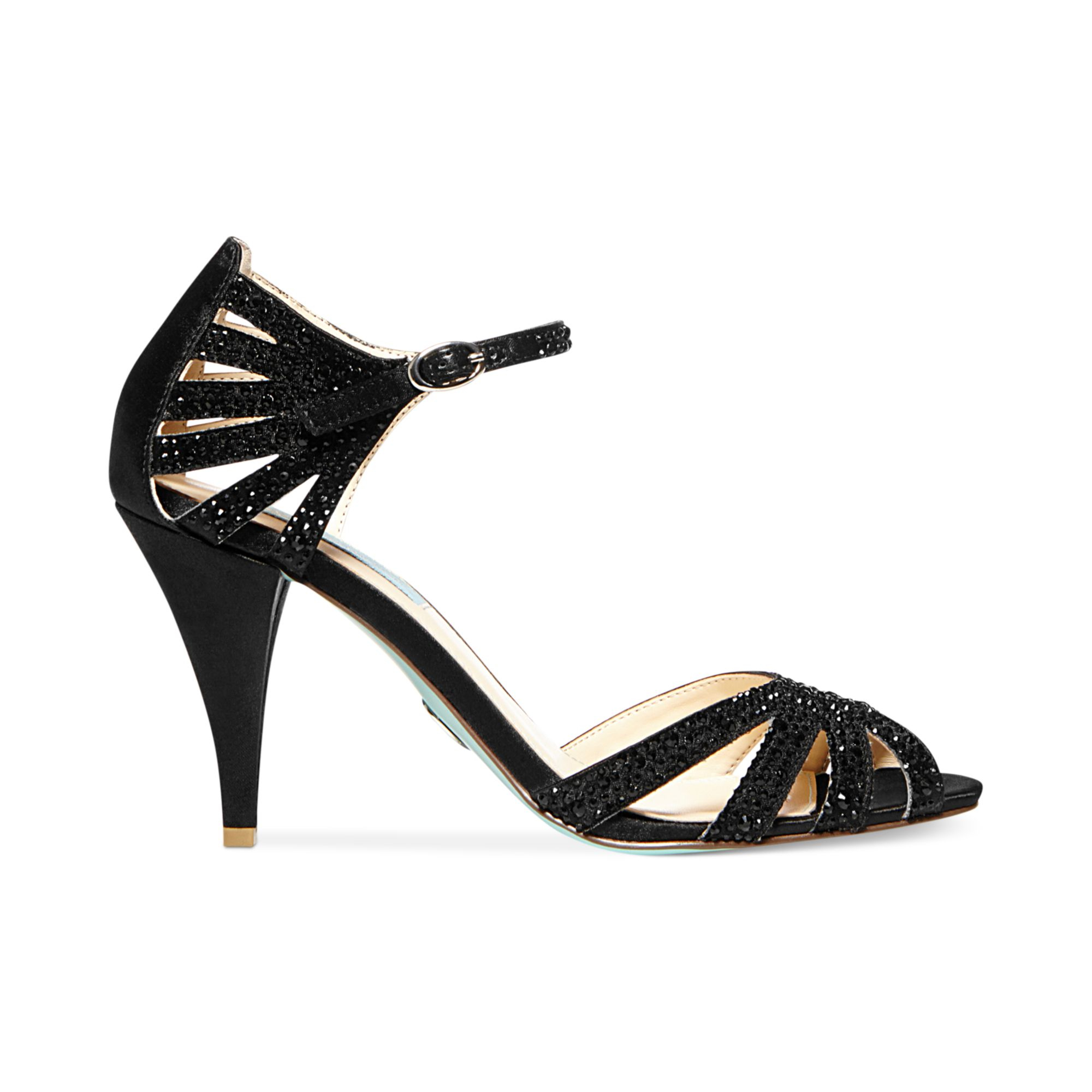 Black sandals evening - Betsey Johnson Blue By Sweet Evening Sandals In Black Lyst 2000x2000