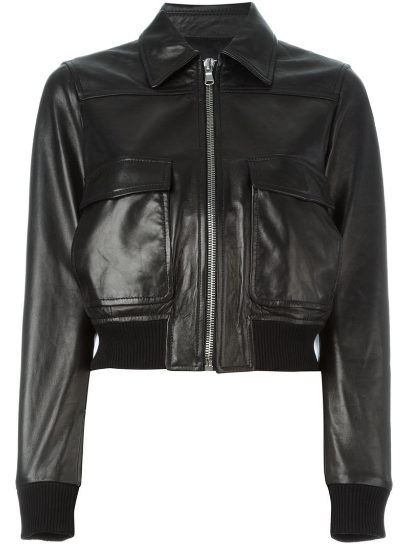 Slightly cropped for a leg-lengthening effect, this leather bomber jacket from McQ Alexander McQueen is a luxurious and flattering piece for every discerning gentleman. Black lamb leather, stand collar with snap button secure, zip front, ribbed cuff and hem, flap side pocket, welt interior pocket, and mesh lining. % al9mg7p1yos.gq: $