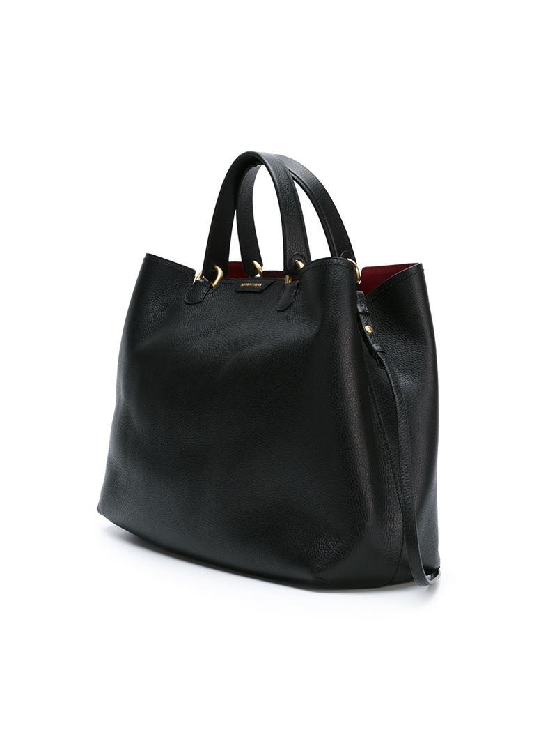 Emporio armani Classic Tote Bag in Black | Lyst