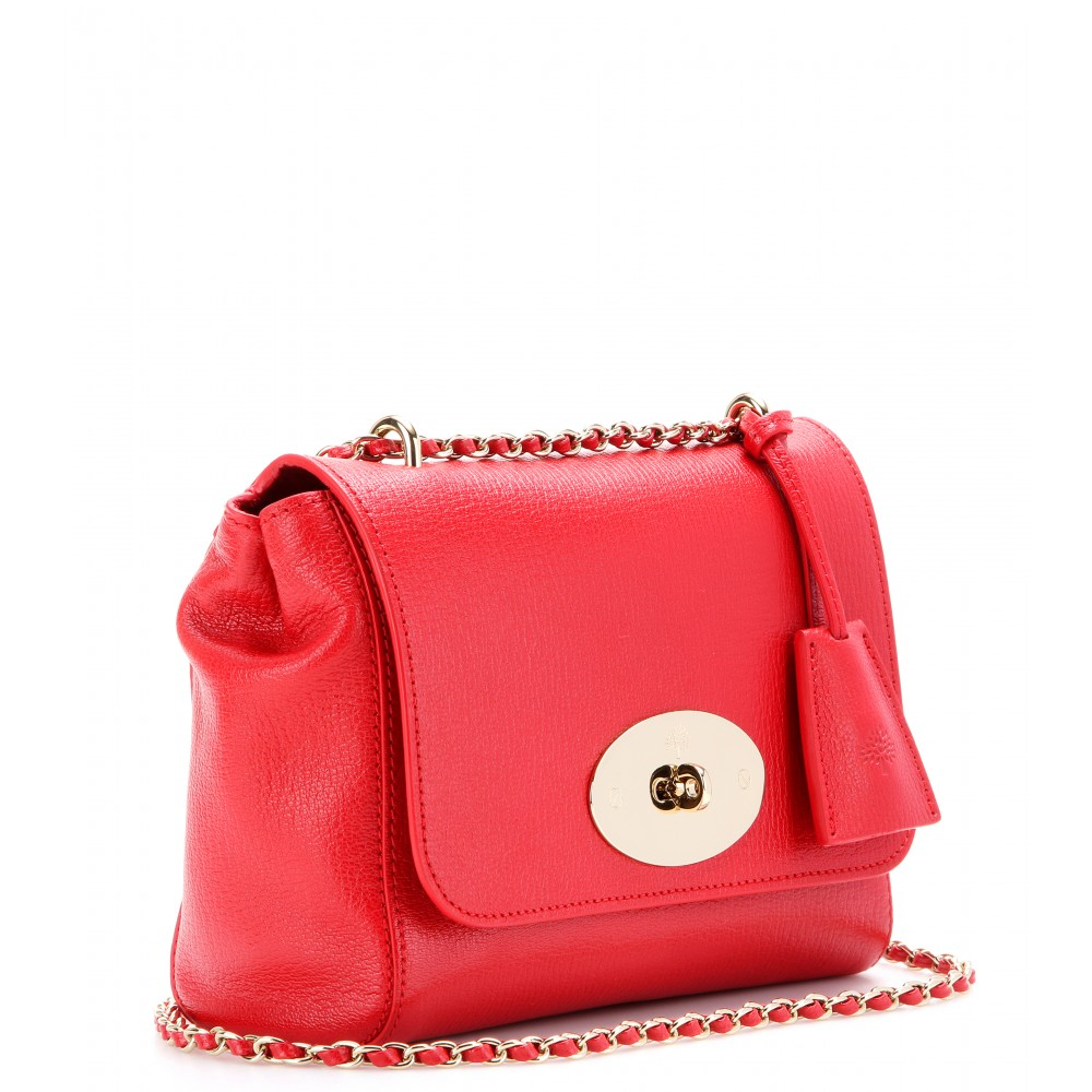 72babf0bdf ... ireland mulberry lily texturedleather shoulder bag in red lyst a5185  fa8eb