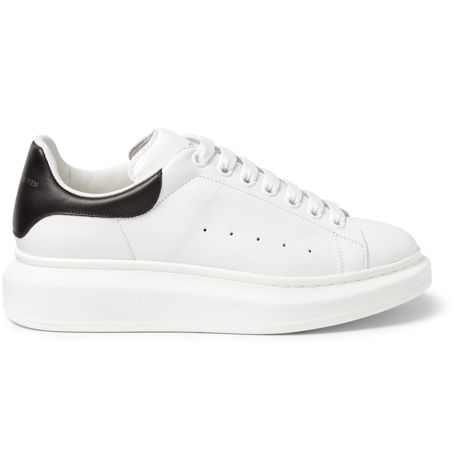 Leather Exaggerated-sole Sneakers - Black Alexander McQueen Clearance Good Selling IzEBbgVo