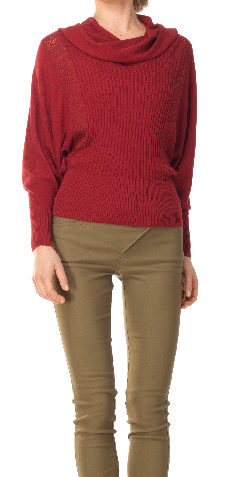 Leon max Cowl Neck Dolman Sweater in Purple | Lyst