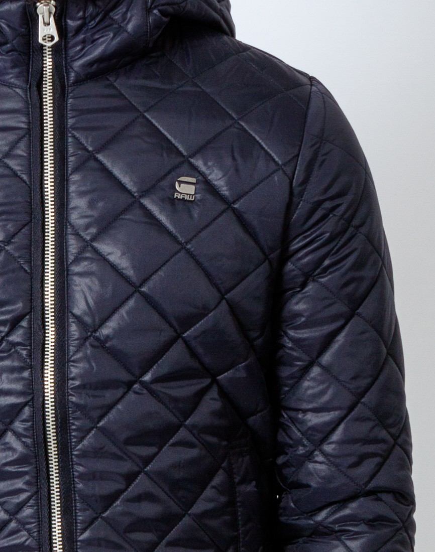 d0f3f32b4a Lyst - G-Star RAW Meefic Quilted Overshirt Coat Blue in Blue for Men