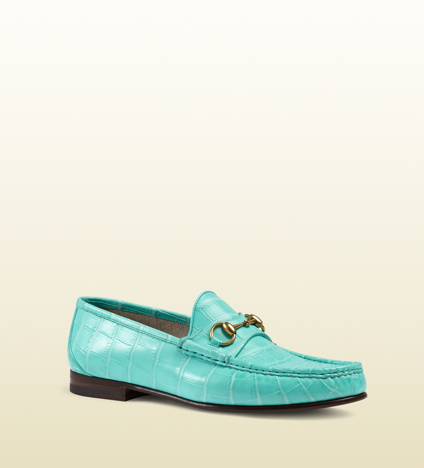 f1504234071 Gucci 1953 Horsebit Loafer In Crocodile in Blue for Men - Lyst