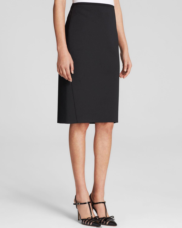 t tahari scuba pencil skirt in black lyst