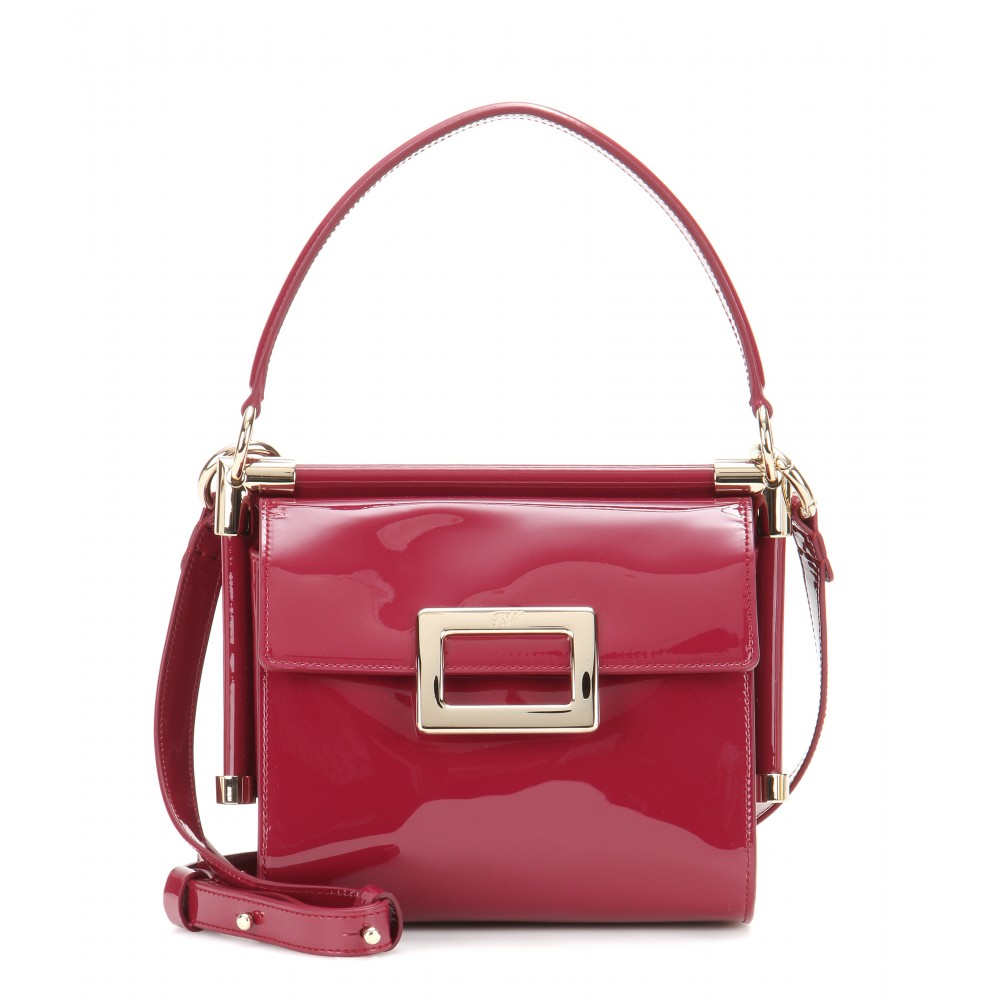 b84e4bdcf8 Lyst - Roger Vivier Miss Viv Mini Patent-Leather Shoulder Bag in Purple