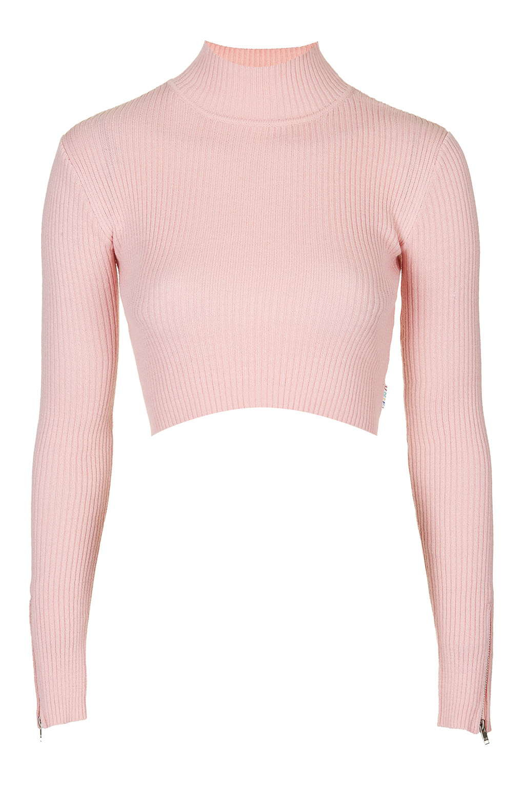 Lyst - TOPSHOP Turtle Neck Crop Top By Unif in Pink c4ba8e027