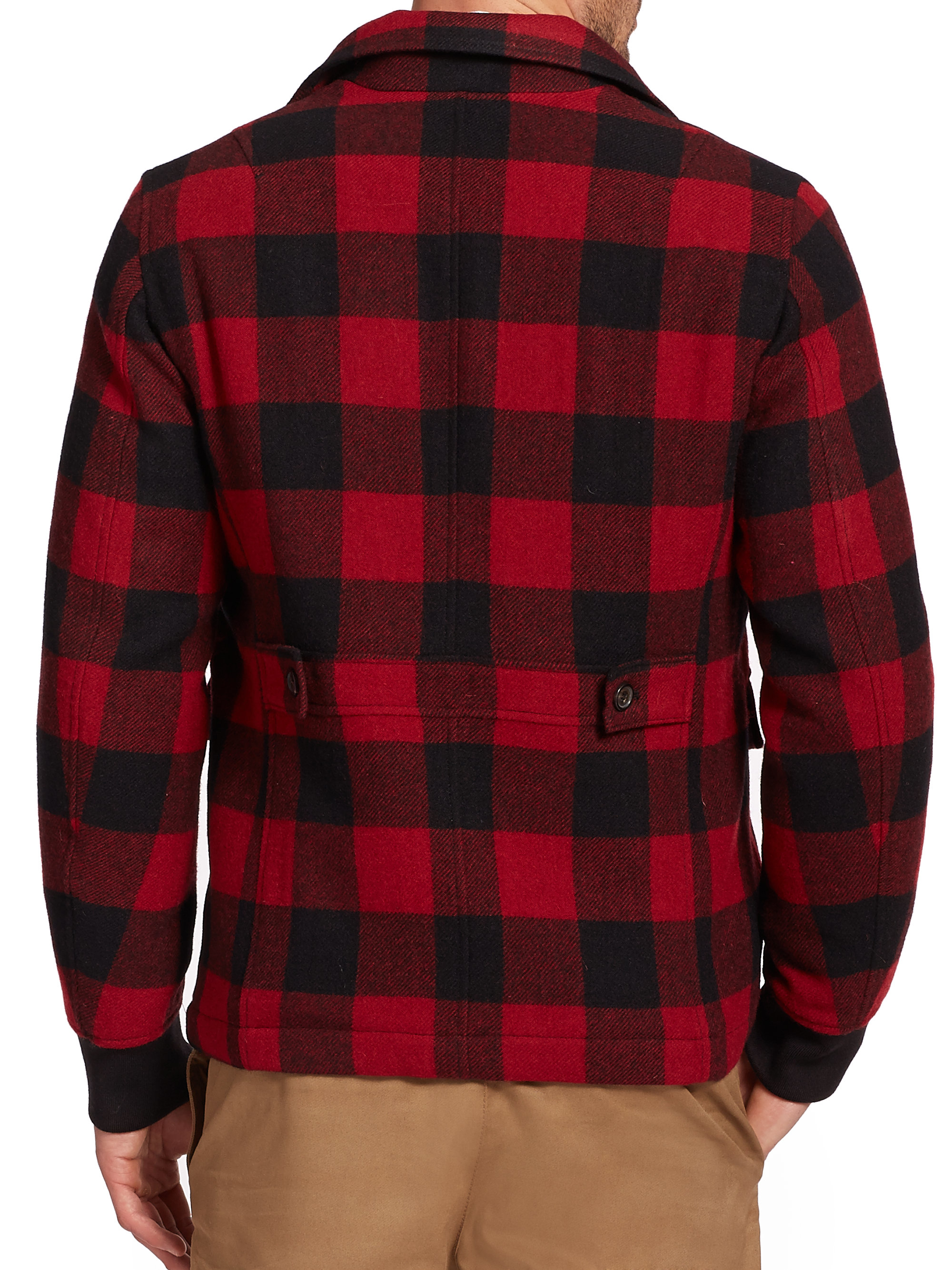 Dsquared² Buffalo Plaid Wool Jacket in Black for Men | Lyst