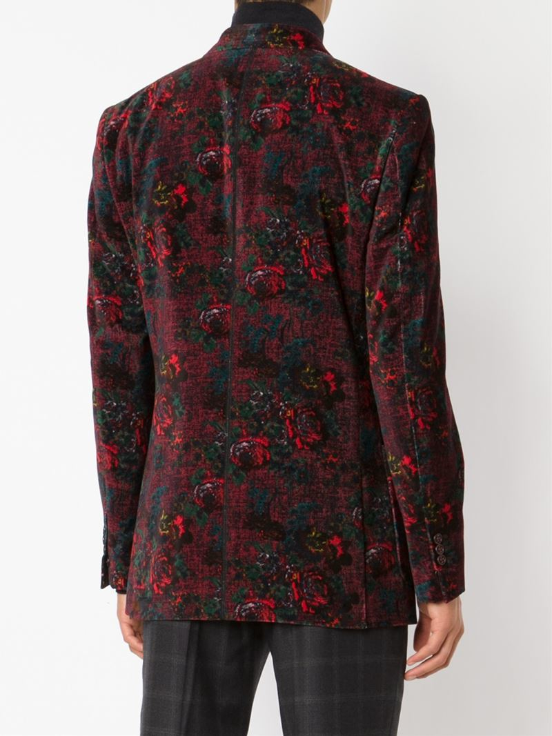 Marc jacobs Rose Print Blazer in Red for Men | Lyst
