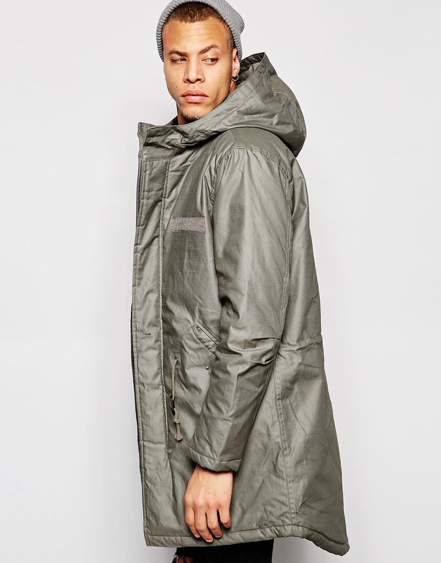 Cheap monday Cage Parka Jacket in Green for Men | Lyst