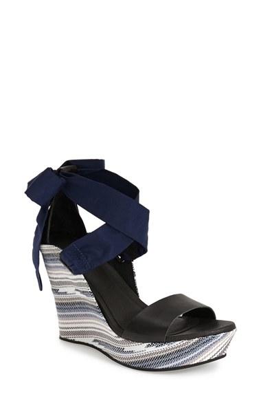 Ugg Jules Serape Platform Wedge Sandal In Blue Lyst