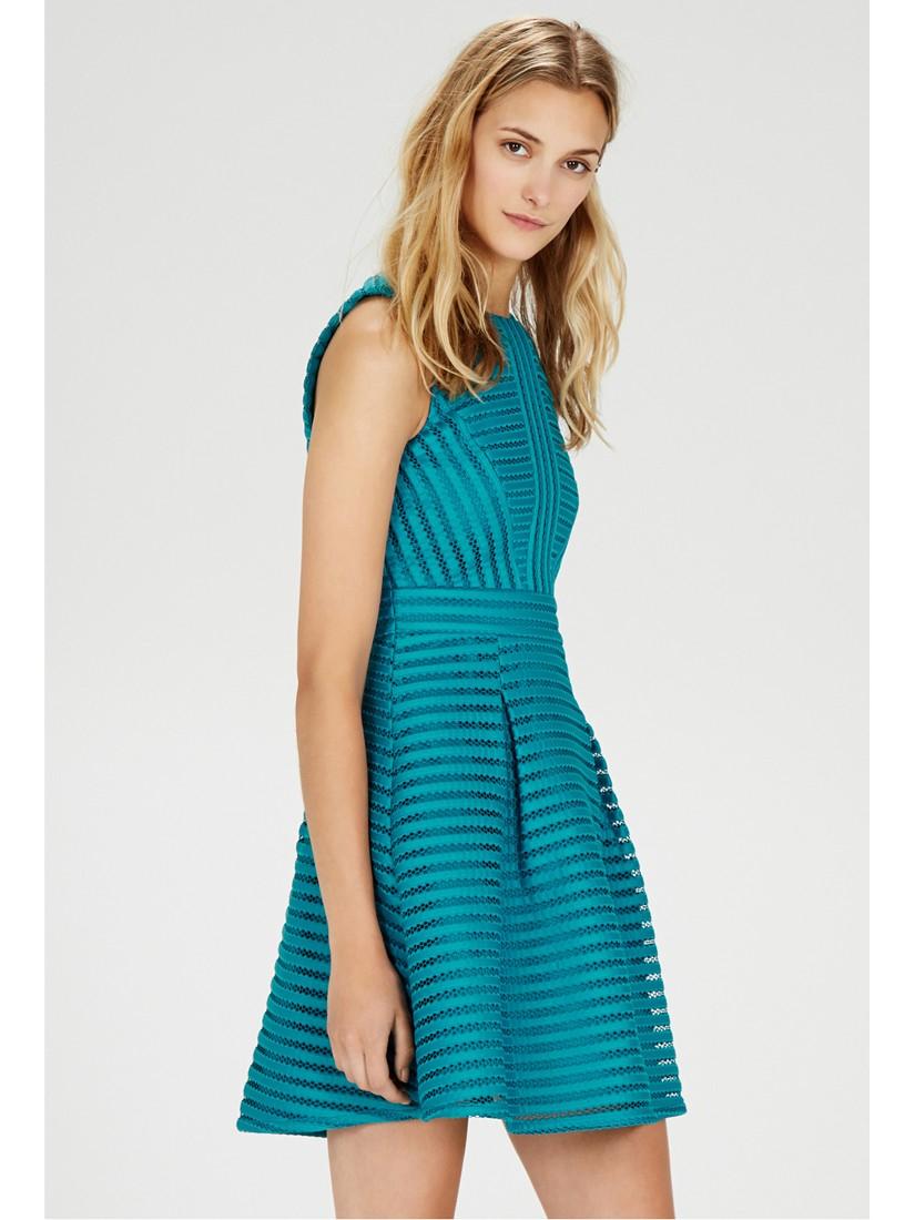 Lyst - Warehouse Formed Linear Prom Dress in Blue