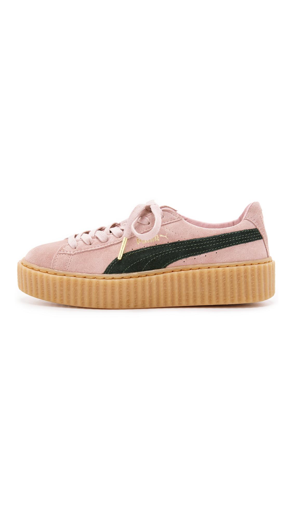 d8d096624a3214 Lyst - PUMA X Rihanna Creeper Sneakers - Coral Cloud Pink ...
