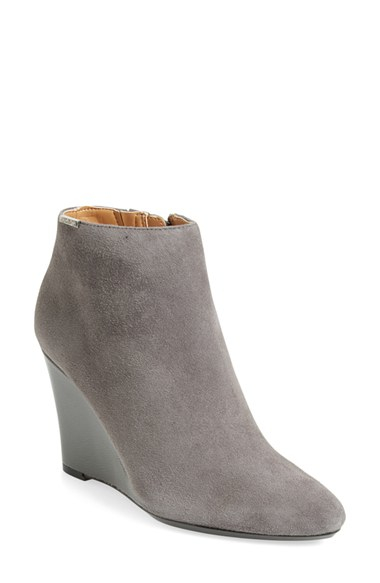 Womens Calvin Klein Charlaine Boots Shadow Grey Suede/Patent YPI66467
