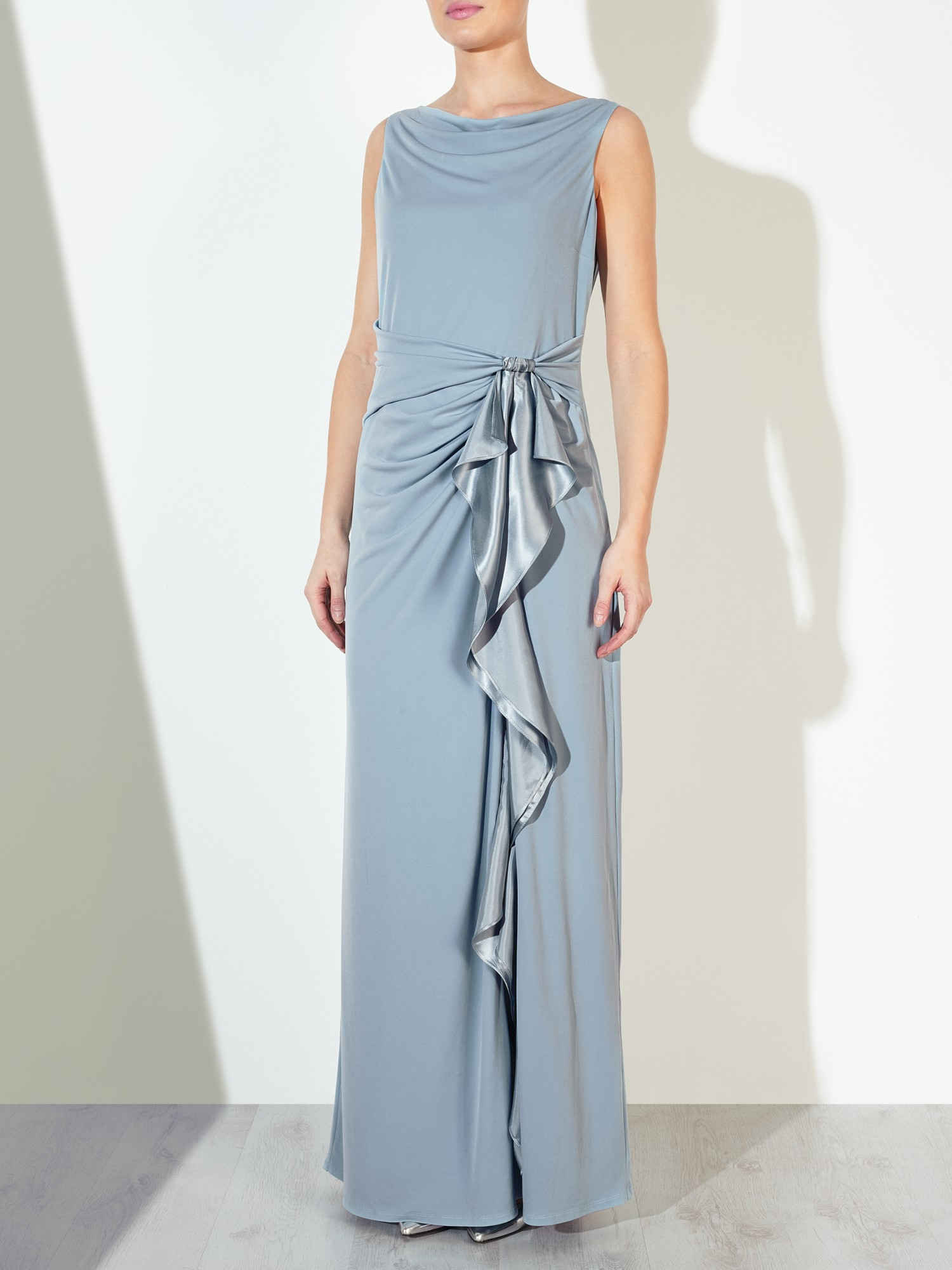 John Lewis Darielle Sleeveless Jersey Maxi Dress In Blue