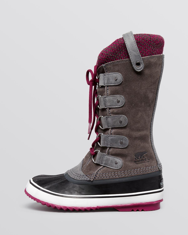 lyst sorel waterproof lace up cold weather boots joan. Black Bedroom Furniture Sets. Home Design Ideas
