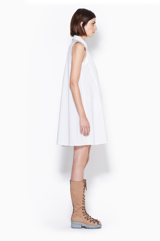 78602a6562cab6 Lyst - 3.1 Phillip Lim Trapeze Dress in White