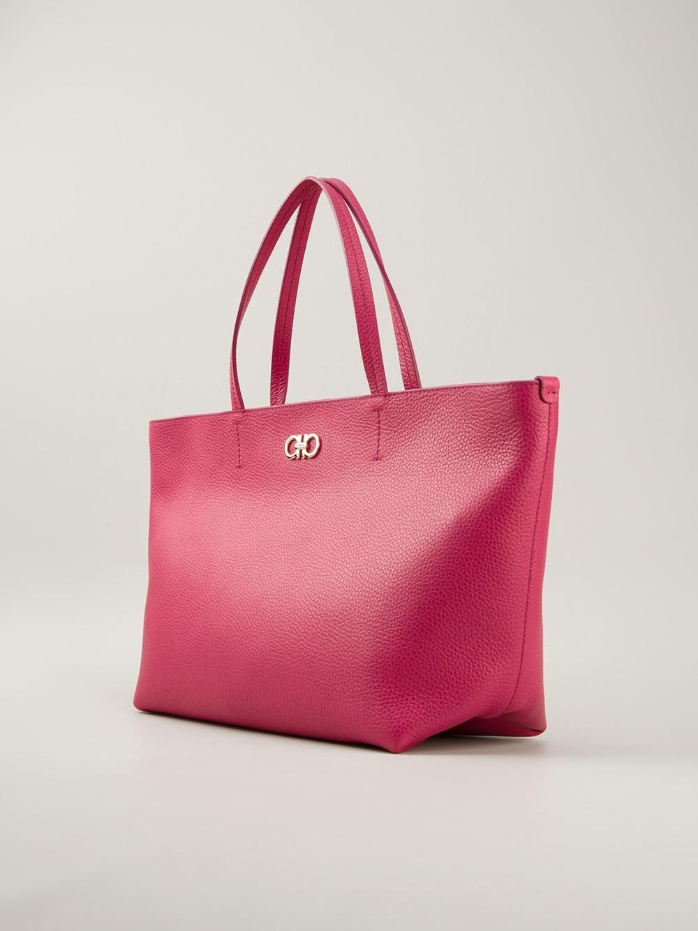 cc4dd97b2e Lyst - Ferragamo Classic Shopper Tote in Pink