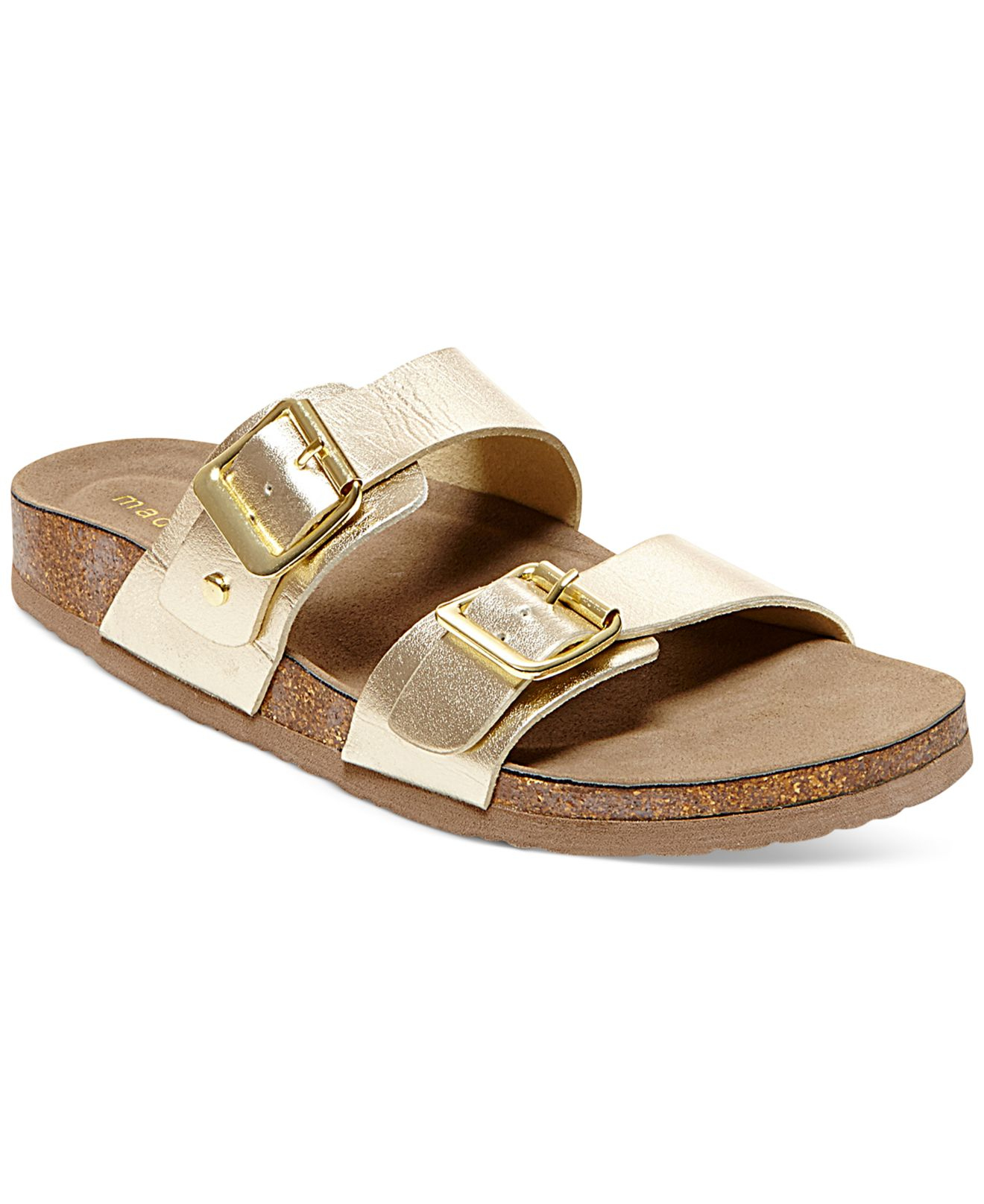 6dfa5aab652f Madden Girl Brando Footbed Sandals in Metallic - Lyst
