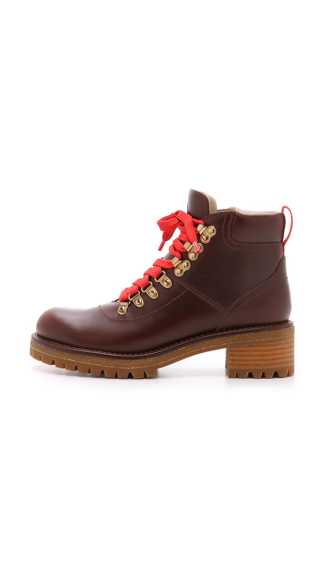 cd977633e5f Lyst - Tory Burch Gunton Hiking Booties in Brown