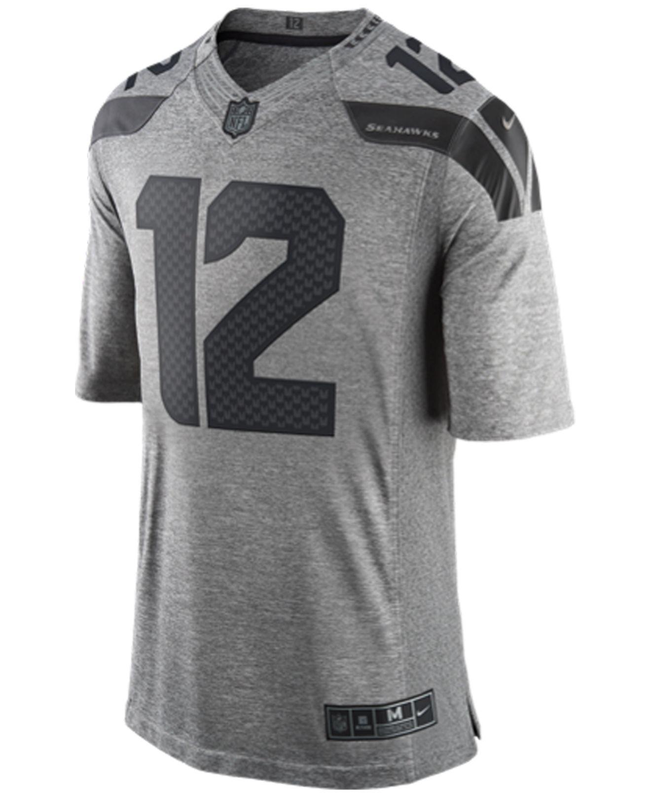 Lyst - Nike Men s Fan  12 Seattle Seahawks Gridiron Jersey in Gray ... 9cd10223bd06