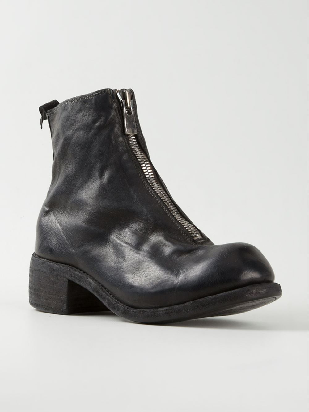 GUIDIFront zip ankle boots