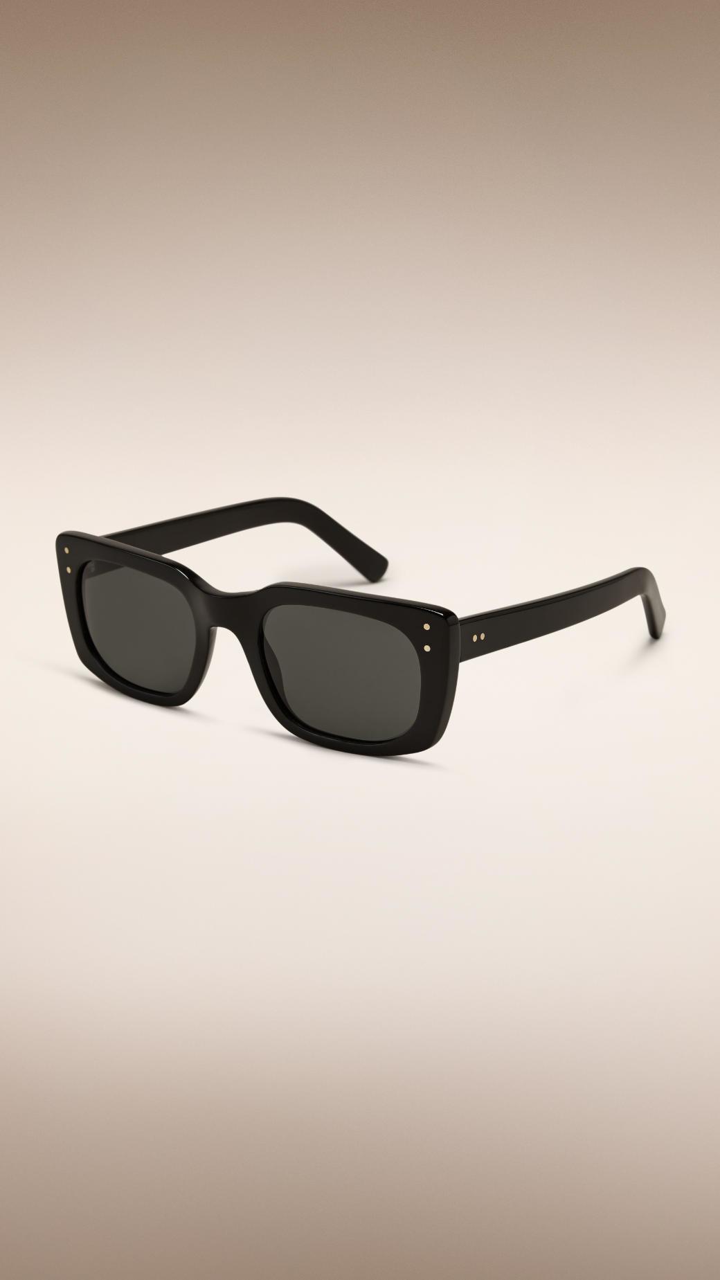 Burberry Black Frame Glasses : Burberry Square Frame Sunglasses Black in Black for Men Lyst