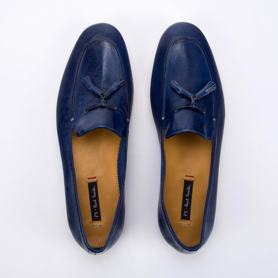 paul smith navy dip dyed leather stevenson tassel