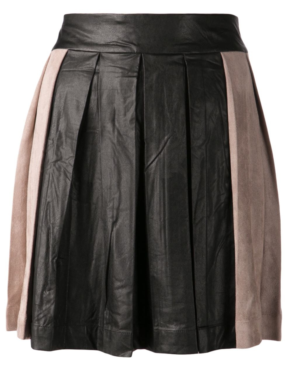 shades of grey by cohen box pleated skirt in