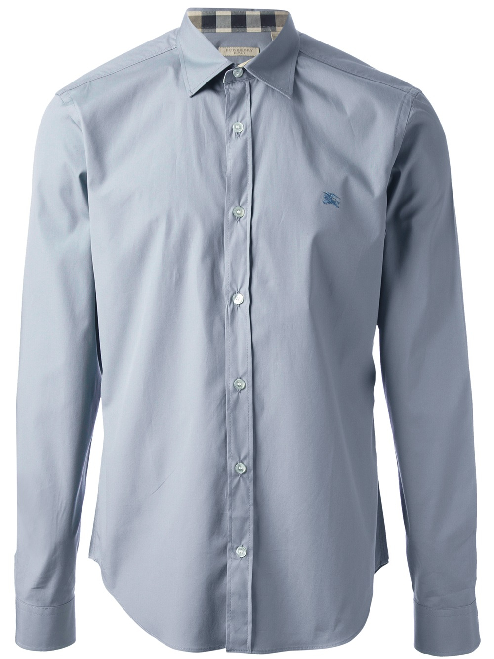 A dress shirt, button shirt, button-front, button-front shirt, or button-up shirt is a garment with a collar and a full-length opening at the front, which is fastened using buttons or shirt studs.