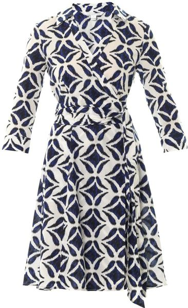 Diane Von Furstenberg Patrice Dress in Blue - Lyst