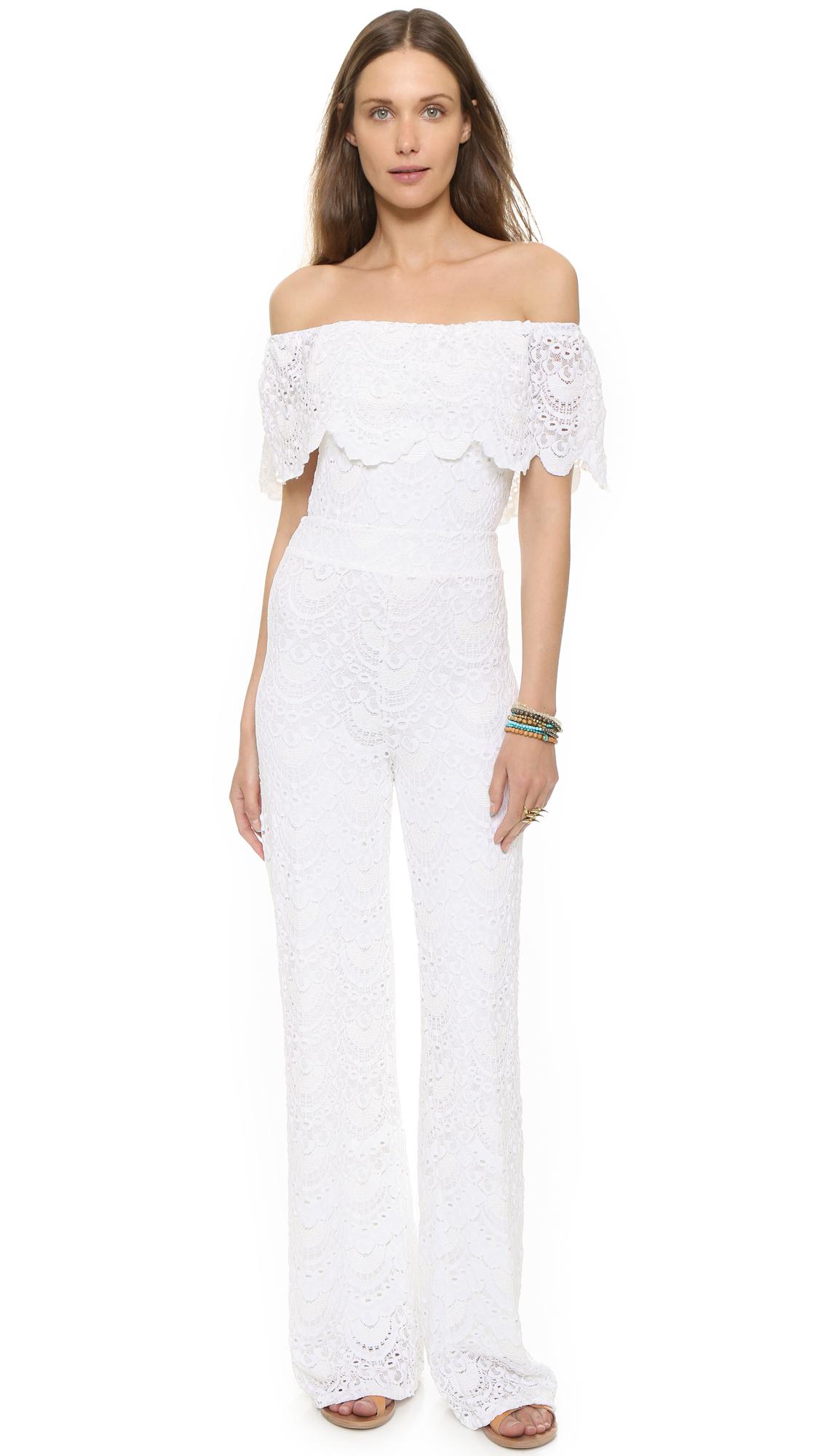 d9dcfd683c Nightcap Positano Jumpsuit - White in White - Lyst