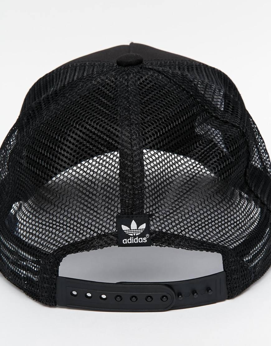 44d4dae8fc5 ... release date lyst adidas originals trucker cap in black for men ffc9b  fa0a4