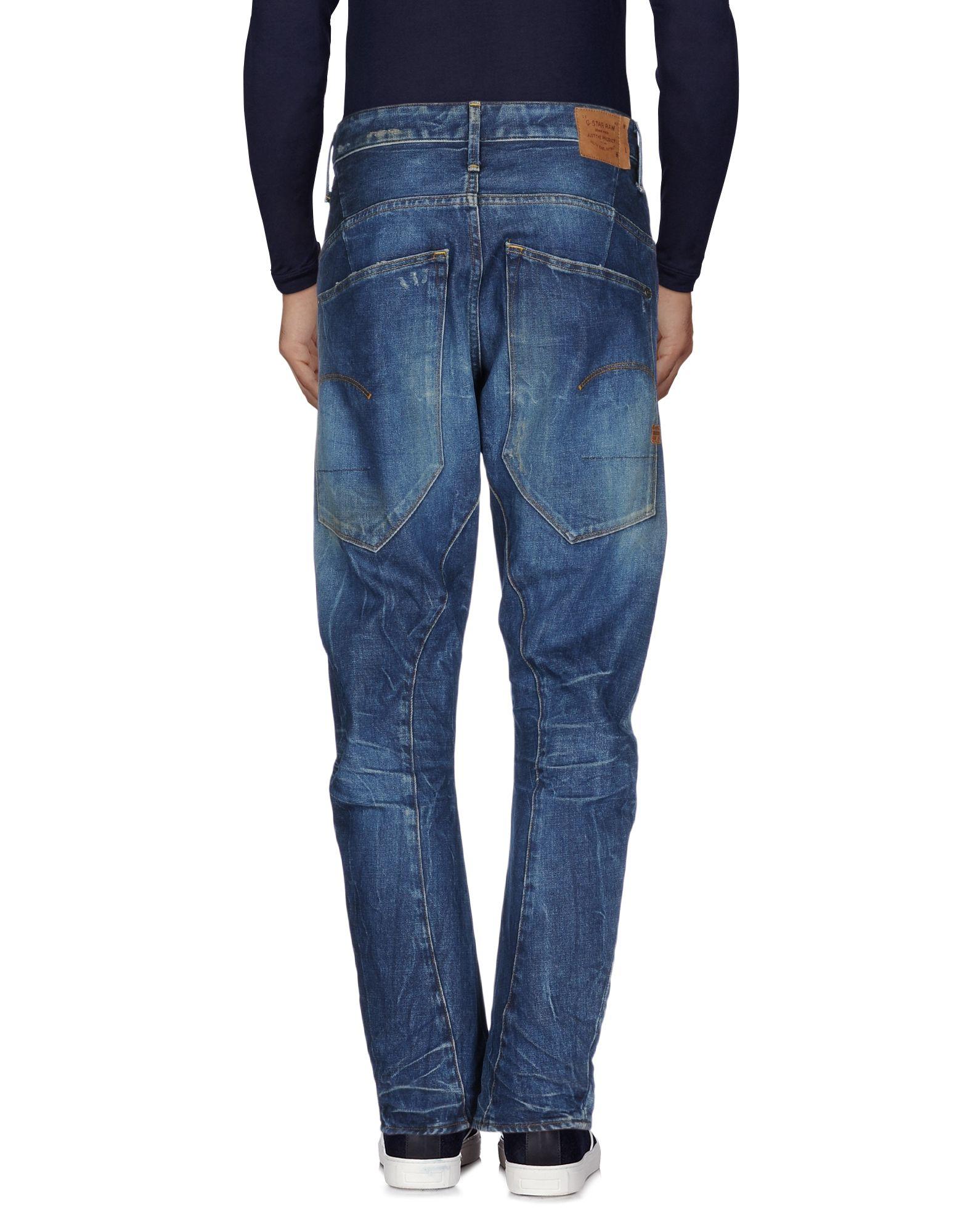 g star raw denim trousers in blue for men save 31 lyst. Black Bedroom Furniture Sets. Home Design Ideas