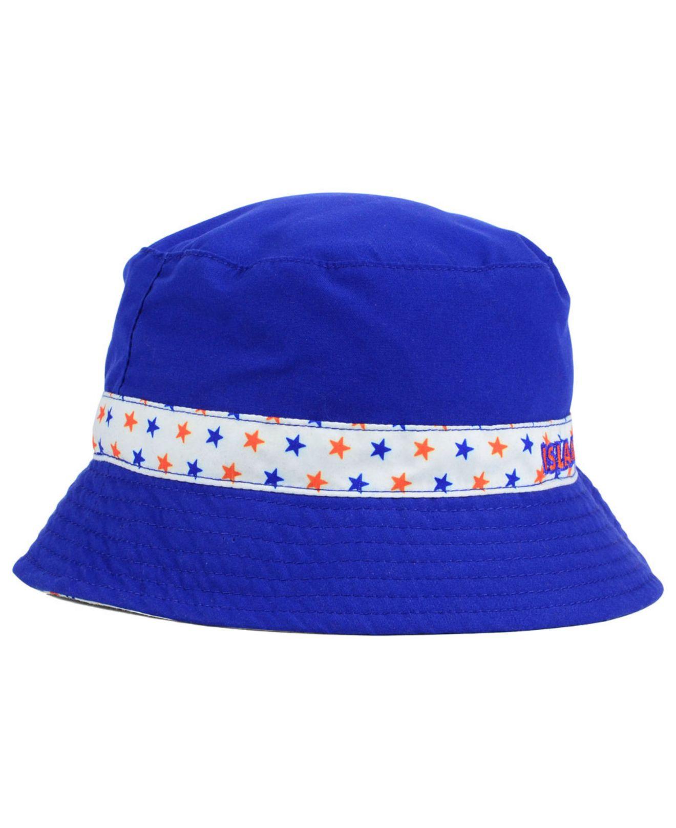 separation shoes 2eee8 365c2 ... spain lyst ktz kids new york islanders reversible bucket hat in blue  62af9 56925