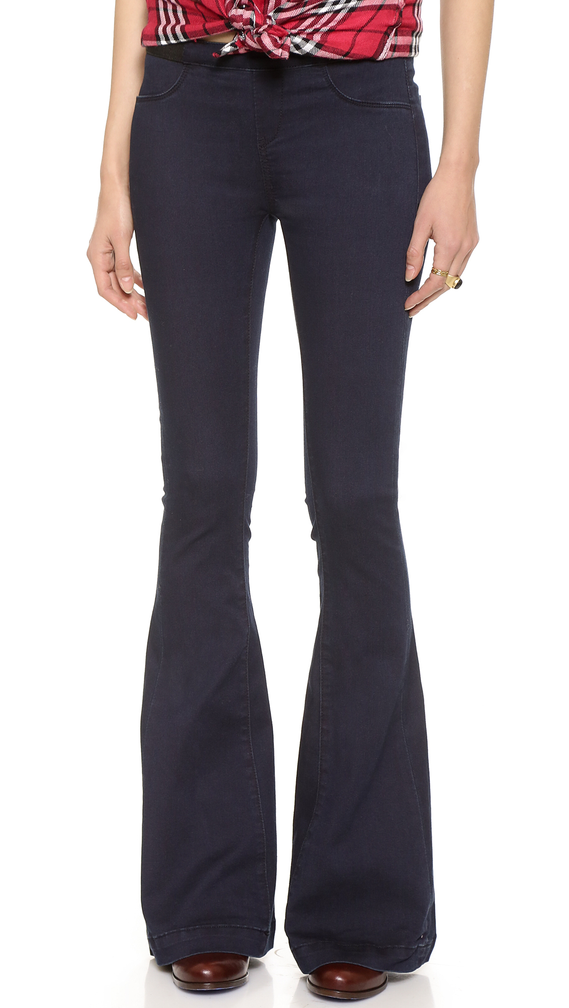 Blank Pull On Flare Jeans in Blue | Lyst