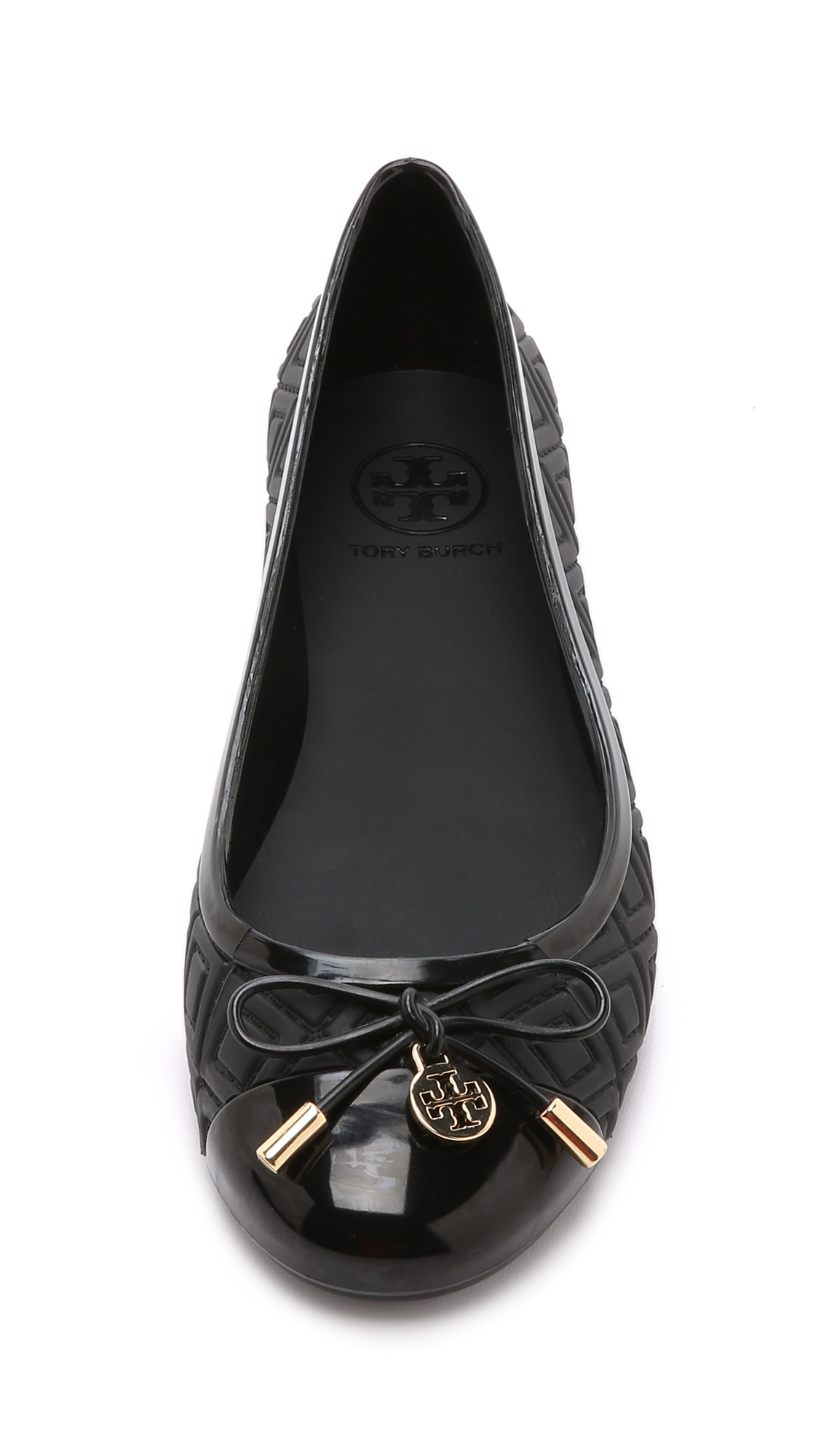 3c08846e1 ... sandal women 160f4 98823  closeout lyst tory burch jelly ballet flats  black in black cbf0e bf16e