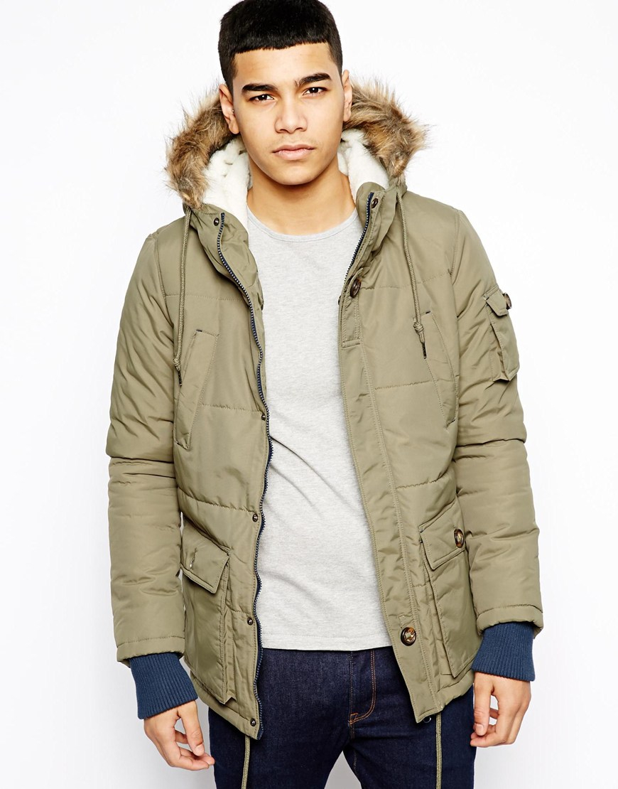 b92df403c Native Youth Arctic Parka Jacket in Green for Men - Lyst