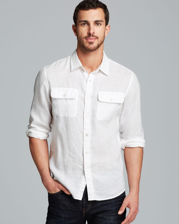 Michael kors Linen Double Pocket Sport Shirt Slim Fit in White for ...