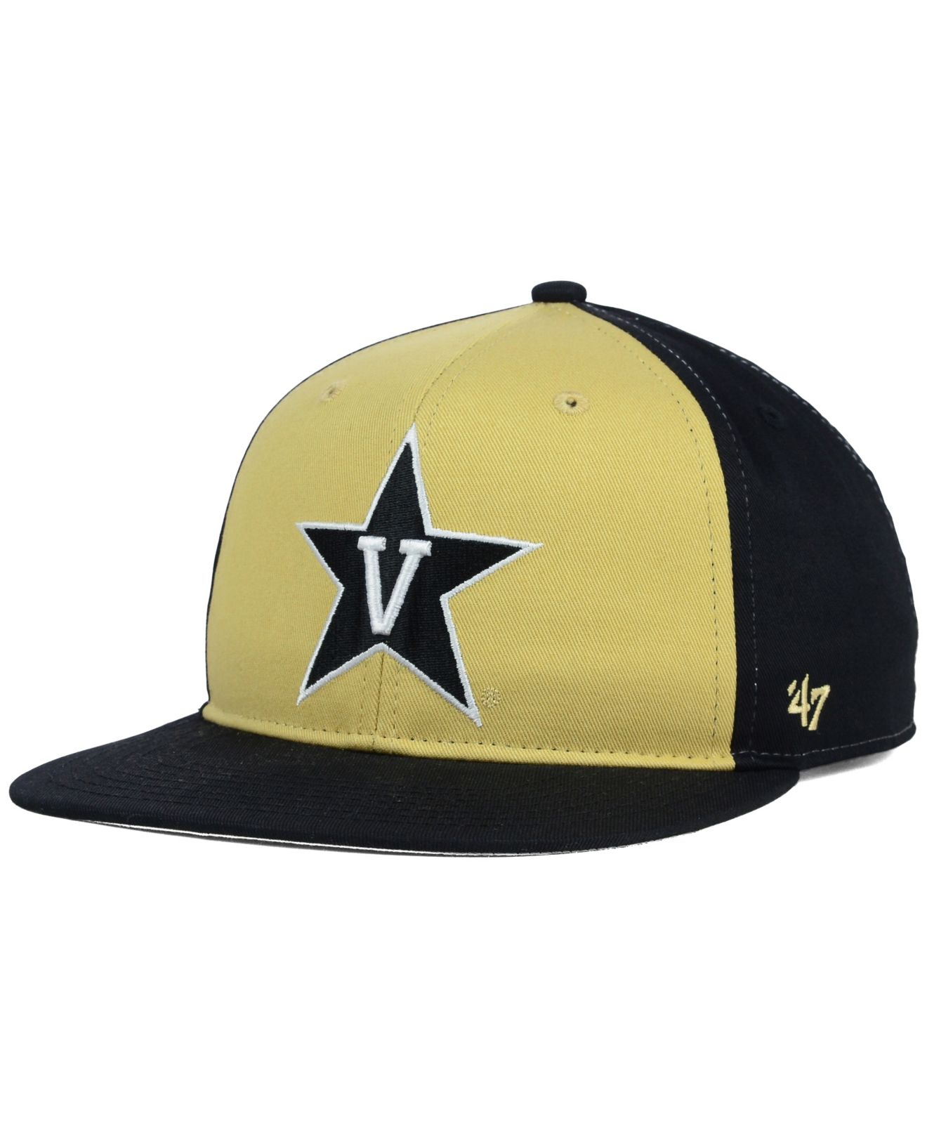 b4b0261939d95 ... authentic lyst 47 brand kids vanderbilt commodores snapback cap in  yellow 39419 a2201