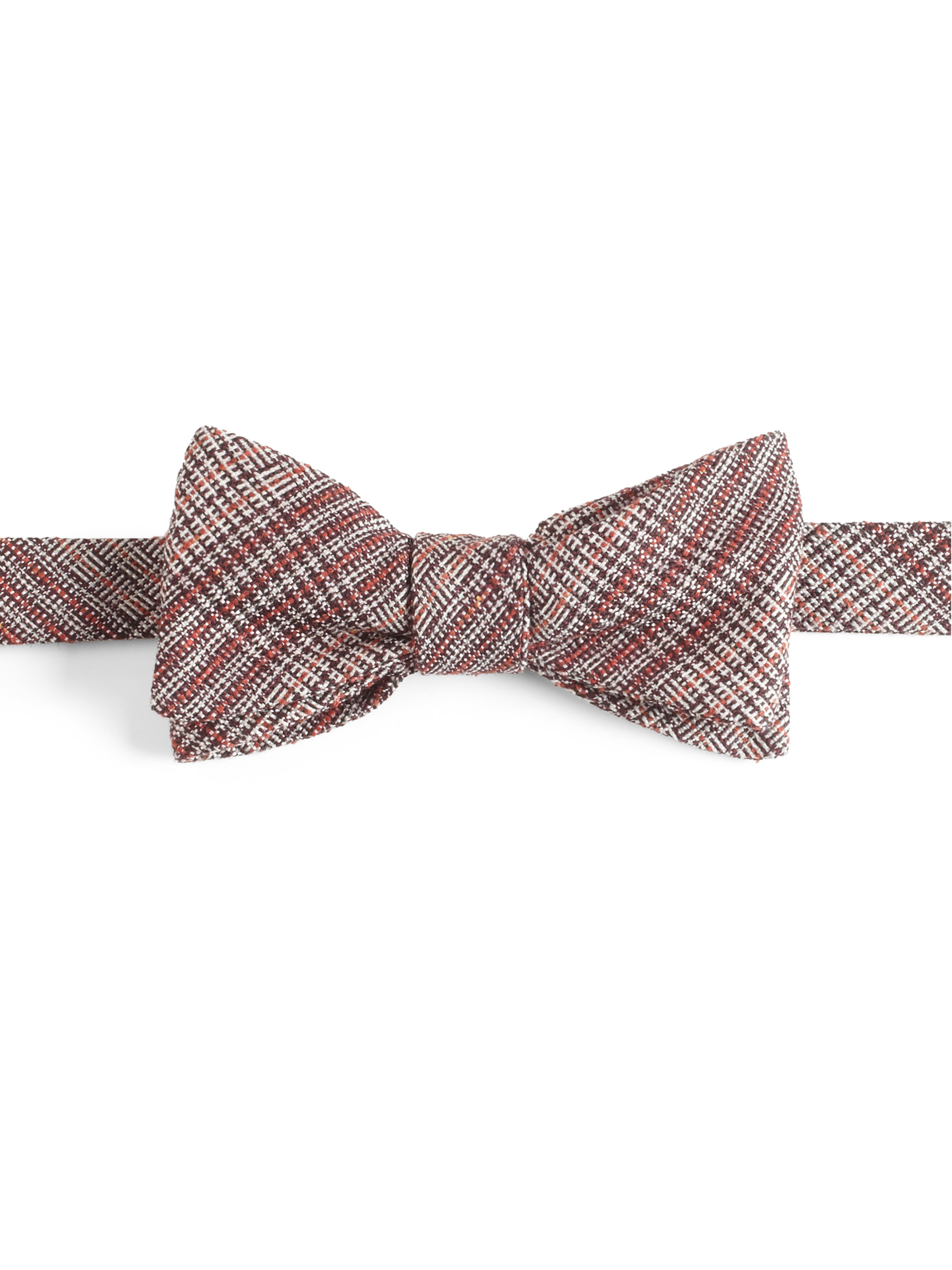 ... official store lyst burberry plaid silkwool bow tie in gray for men  35a6e 95487 54770af425c4