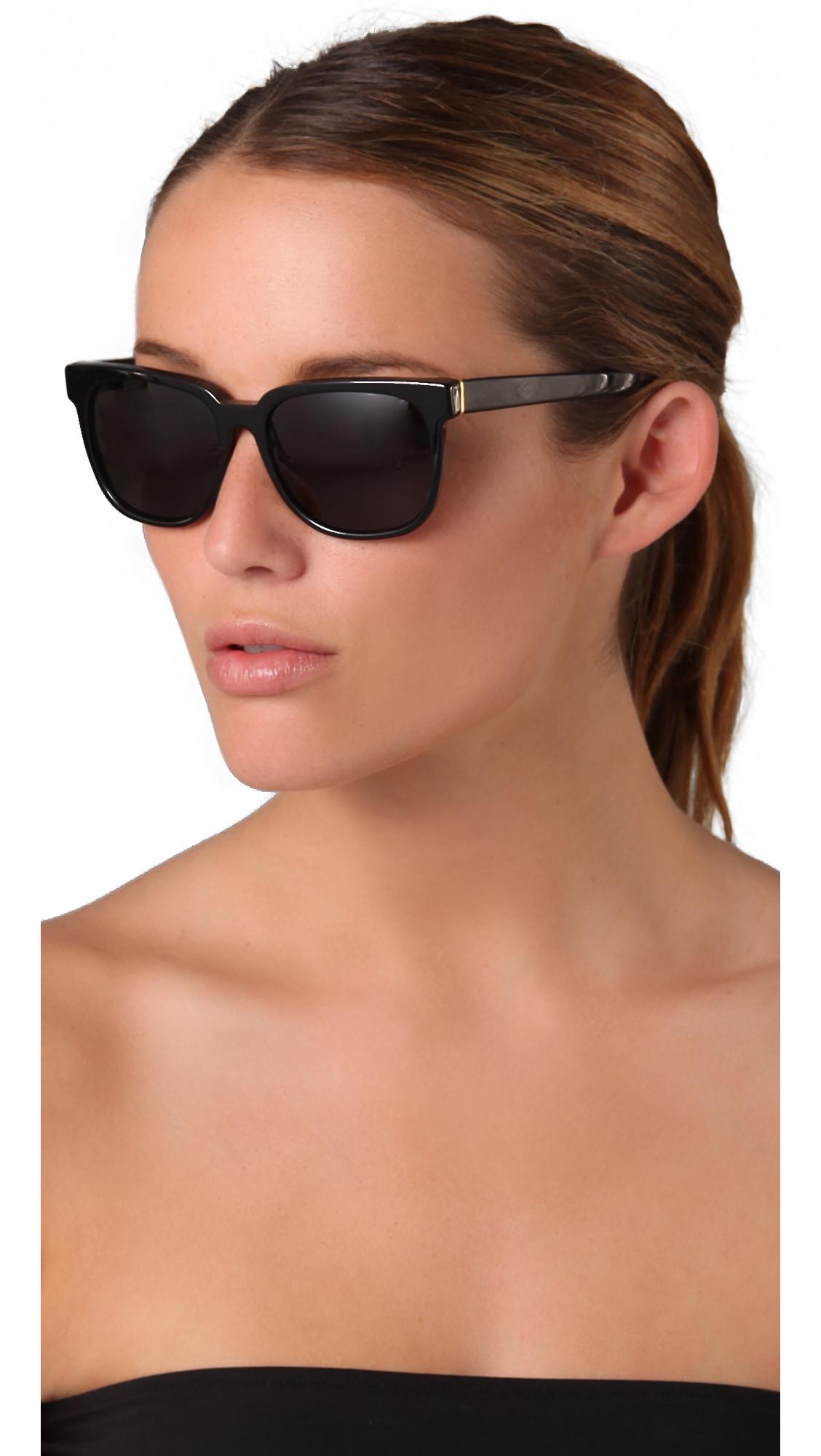 Lyst Retrosuperfuture People Sunglasses In Black