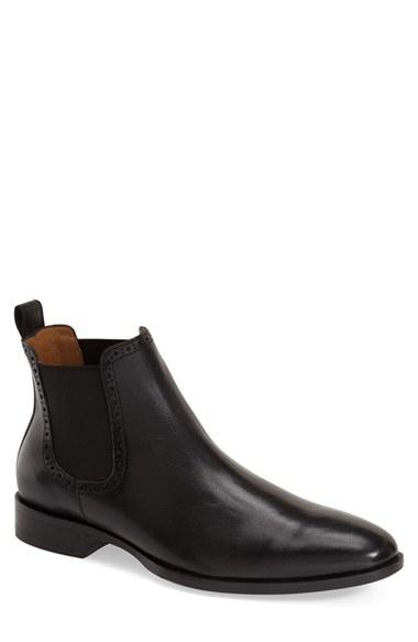 johnston murphy nolen chelsea boot in black for lyst