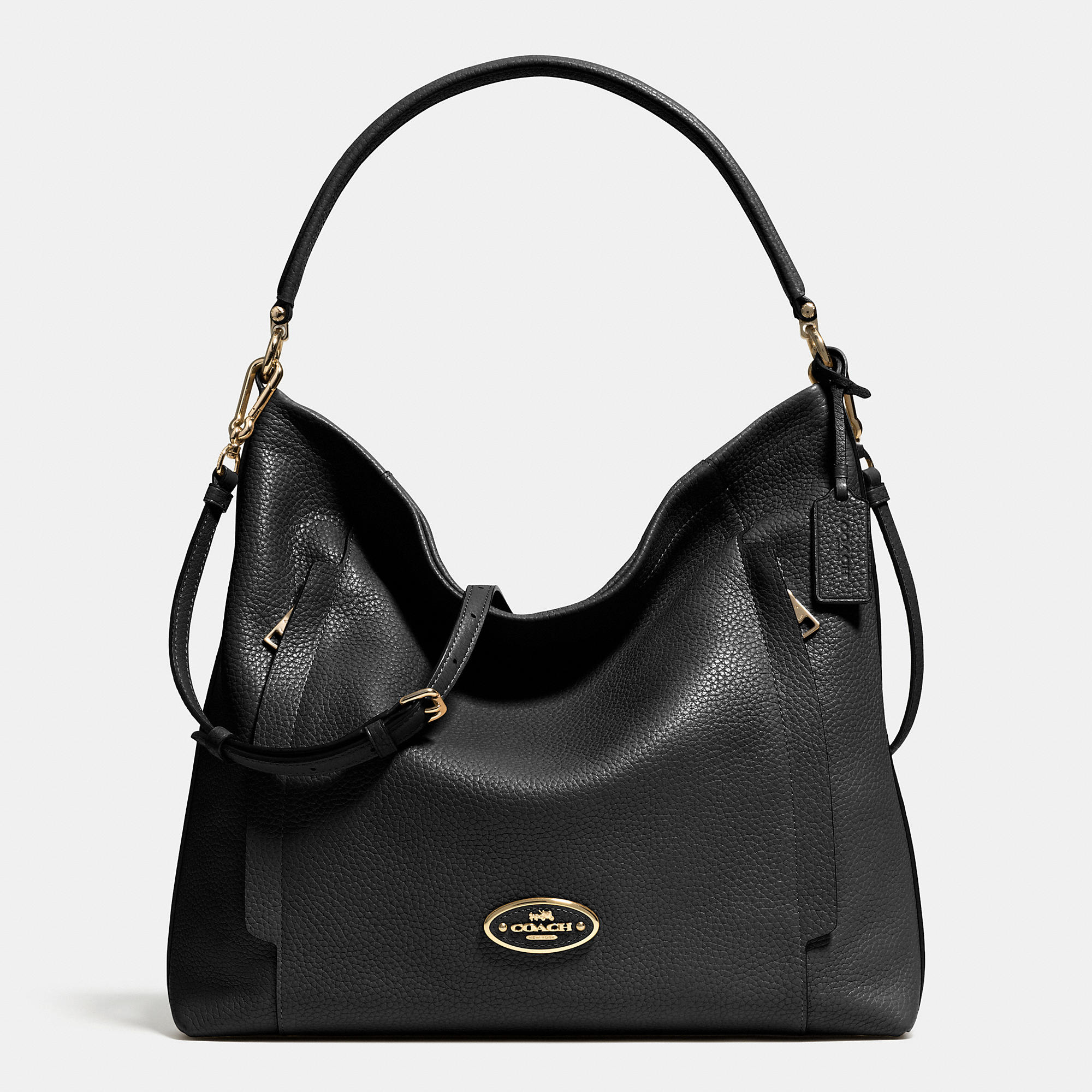 Lyst - Coach Large Scout Hobo In Pebble Leather in Metallic
